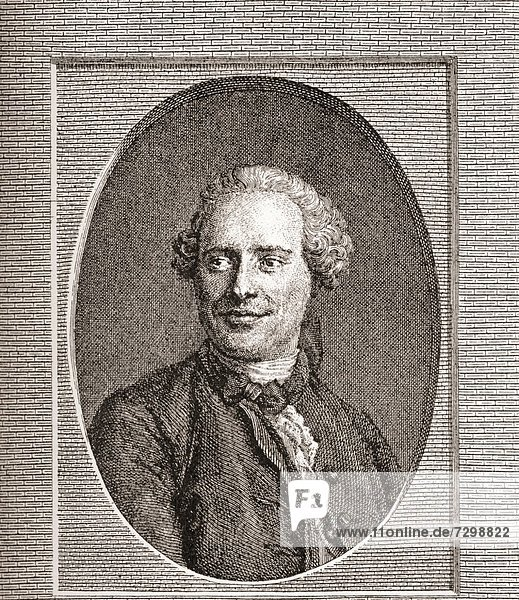 Jean-Baptiste le Rond d´Alembert  1717 –1783 French mathematician  mechanician  physicist  philosopher and music theorist From Les Heures Libres published 1908