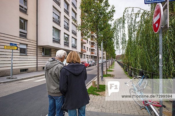 Frankreich sehen Großstadt Landkarte Karte Elsass Straßburg