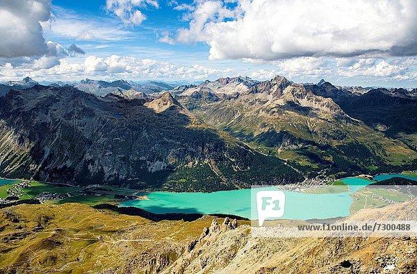 Ansicht  Silvaplanersee  Engadin  Schweiz