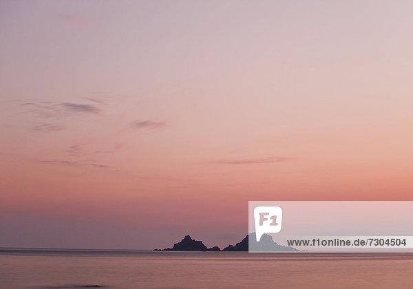 Ruhige Abendstimmung am Meer