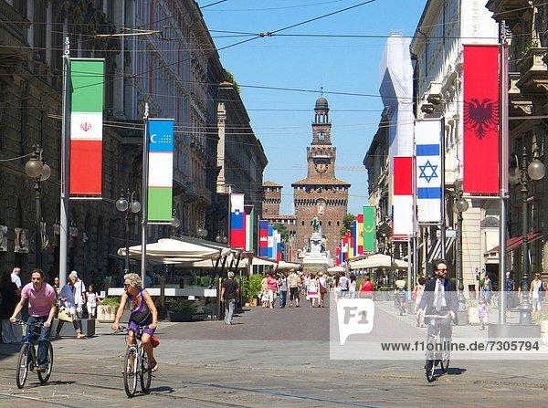 Italien  Lombardei  Mailand  über Dante