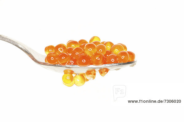 Spoon holding caviar
