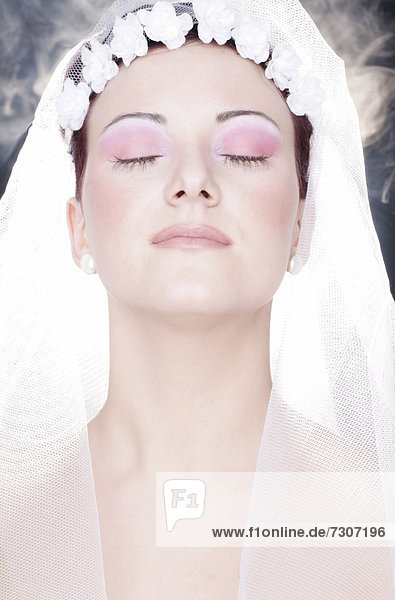 Bride daydreaming
