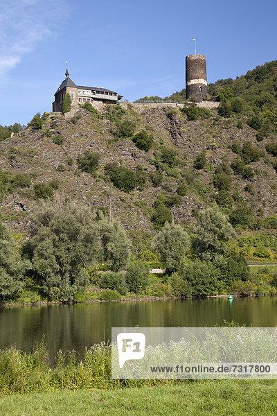 Burg Bischofstein  Hatzenport  Münstermaifeld  Mosel  Rheinland-Pfalz  Deutschland  Europa  ÖffentlicherGrund
