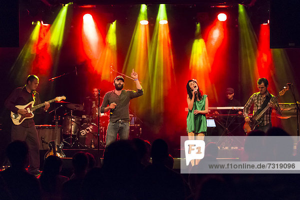 Swiss band Aloan performing live in the Schueuer concert hall  Lucerne  Switzerland  Europe