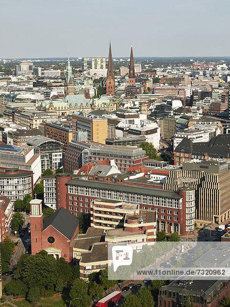 Europa Stadt Geschichte Kirche Hamburg - Deutschland Deutschland