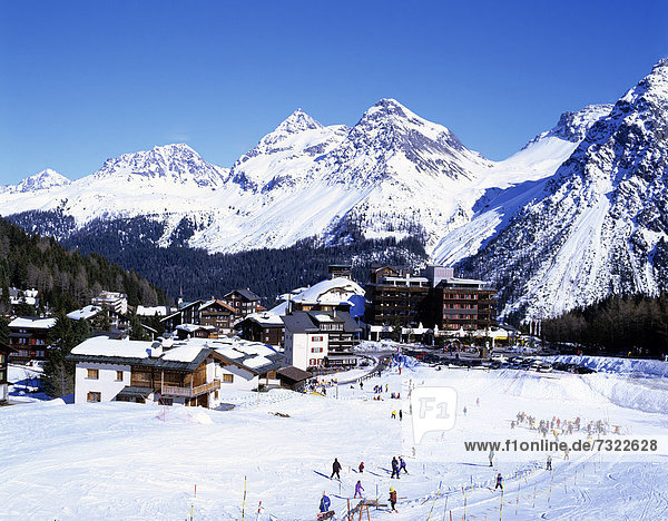 Europa Alpen Ansicht Arosa schweizerisch Schweiz