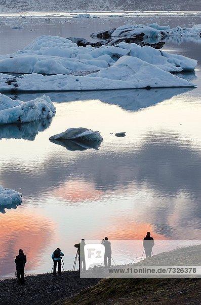 Silhouette  Fotograf  Eis  Island  Lagune
