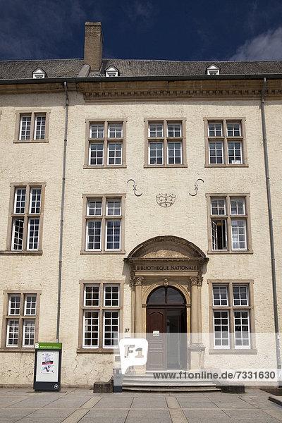 Luxemburg Hauptstadt Europa Gebäude Bibliotheksgebäude Komplexität Hochschule Luxemburg alt