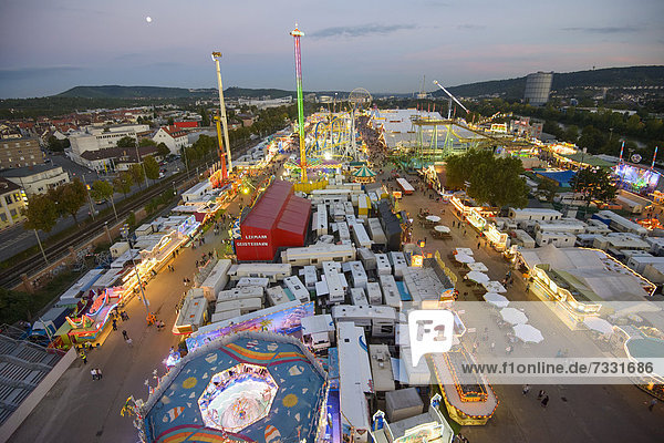 Cannstatter Wasen fairground  funfair  Bad Cannstatt  Stuttgart  Baden-Wuerttemberg  Germany  Europe
