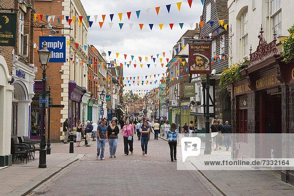 High Street  Rochester  Kent  England  United Kingdom  Europe