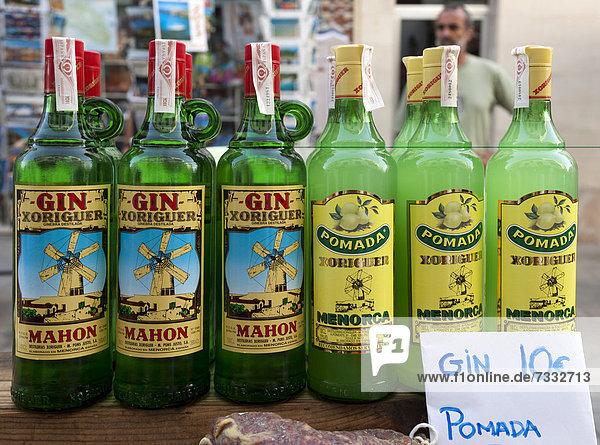 alkoholische Getränke, Balearen, Spanien, Südeuropa, typisch für ...
