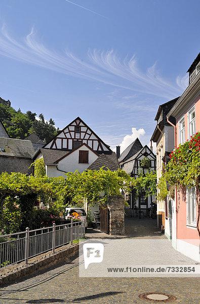 Europa UNESCO-Welterbe Bacharach Deutschland Rheinland-Pfalz