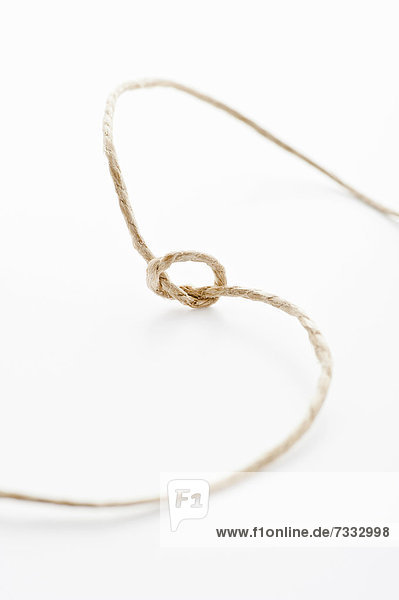 String with a tied knot