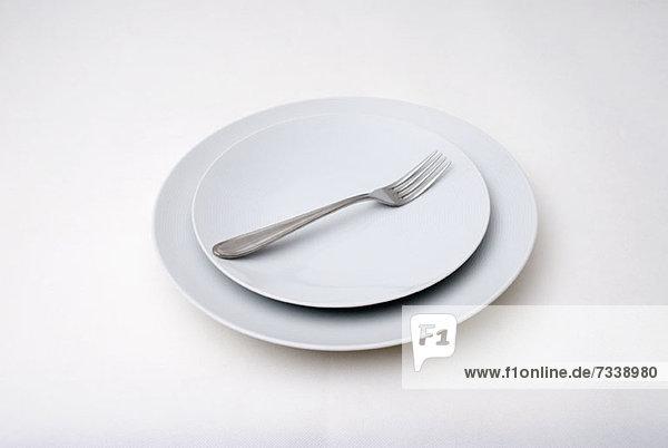 Gabel auf Teller