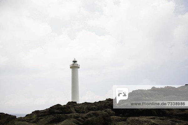 Leuchtturm am Kap Zampa in Okinawa  Japan