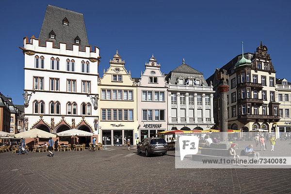 überqueren Europa Quadrat Quadrate quadratisch quadratisches quadratischer Kreuz Deutschland Hauptmarkt Markt Rheinland-Pfalz Trier