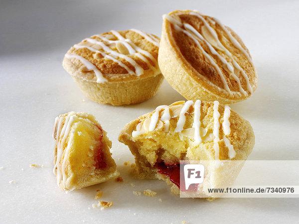 Traditionelle britische Bakewell-Tarts
