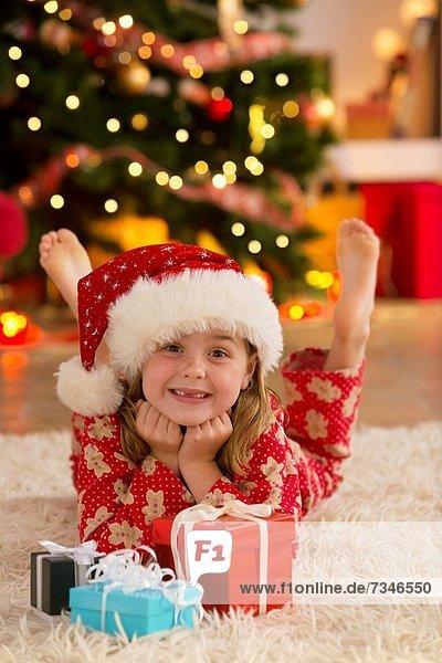 Geschenk Zeit Weihnachten jung Mädchen