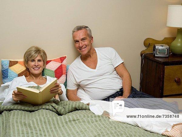 Porträt einer lächelnd reifes Paar
