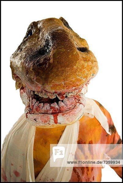 Mensch  Kleidung  Maske  Dinosaurier