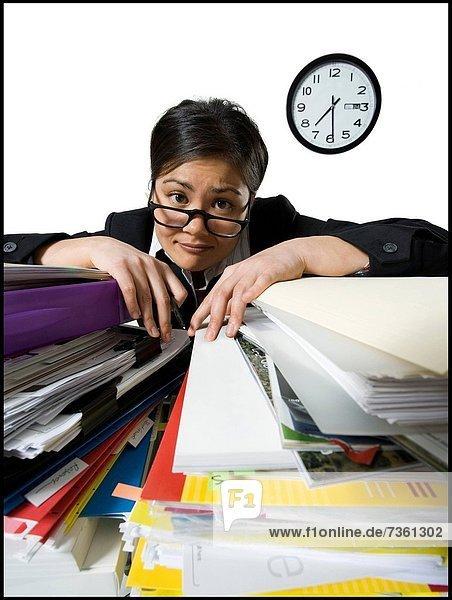 Portrait  Geschäftsfrau  sehen  müde