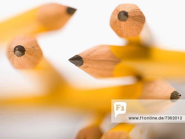 Close_up of pencils