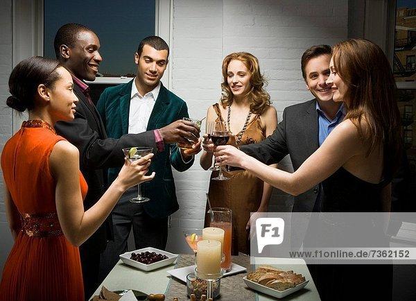 Mensch Menschen Party Menschengruppe Menschengruppen Gruppe Gruppen