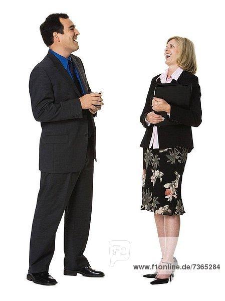 Geschäftsfrau  lachen  Geschäftsmann