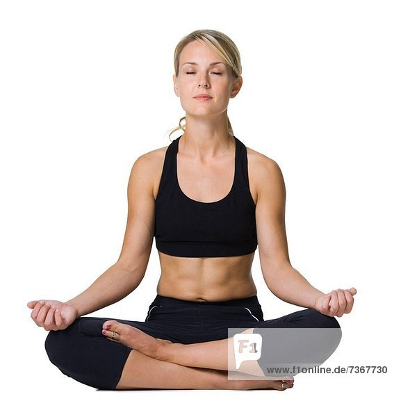 überqueren  Frau  jung  Yoga