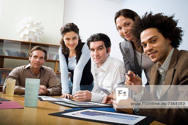 People in business meeting in board room