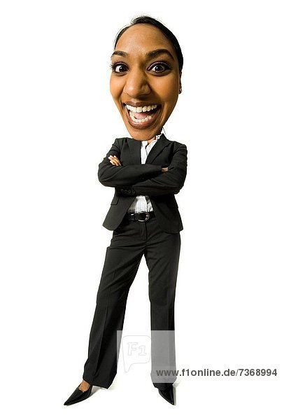 überqueren  Geschäftsfrau  lächeln