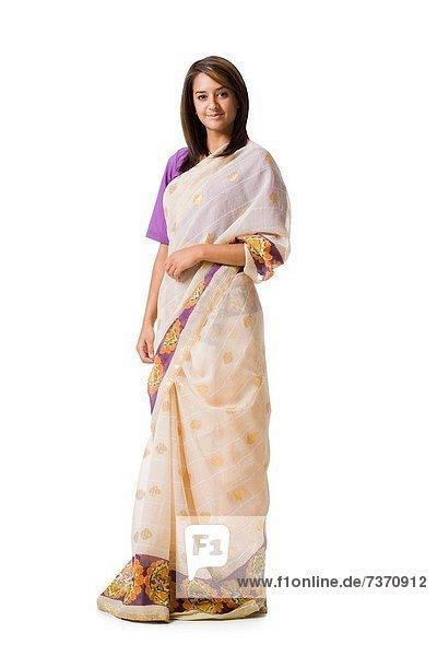 Frau  Tradition  lächeln  indische Abstammung  Inder  Kleid
