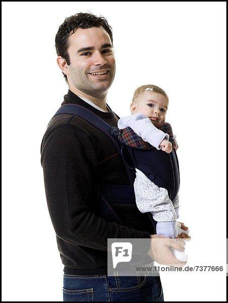 Menschlicher Vater  Tochter  Baby