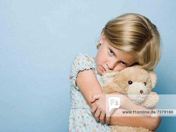 umarmen  Teddy  Teddybär  Mädchen