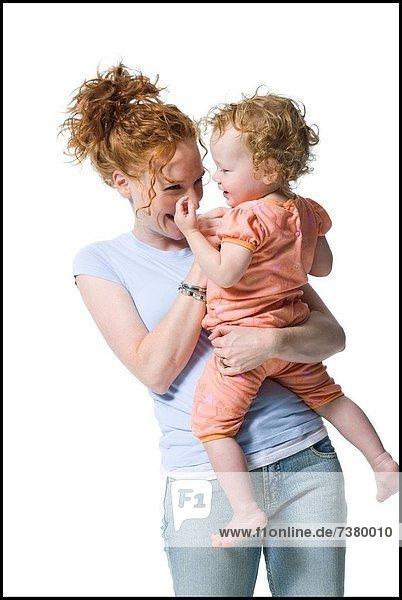 Frau  halten  jung  Tochter