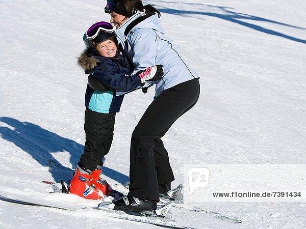 Frau  Skisport  jung  Mädchen