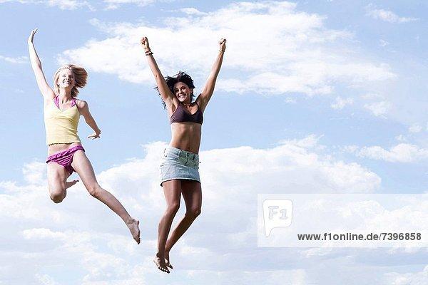 Frau  springen  Himmel  2