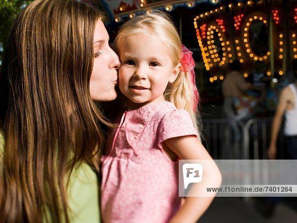 halten  jung  Tochter  Mutter - Mensch
