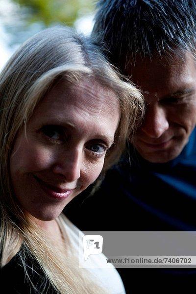 Closeup of mature couple