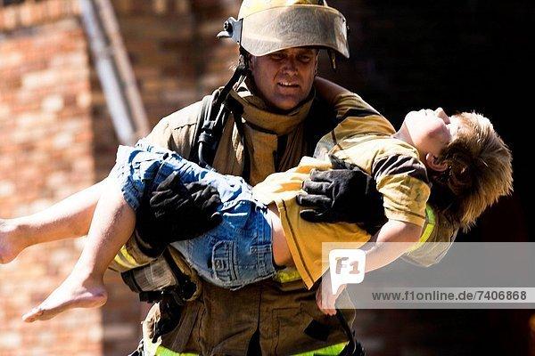 Rettung  Krieger  Feuer