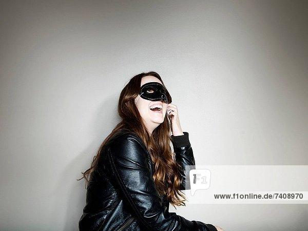 Frau  Kleidung  schießen  Studioaufnahme  Maske