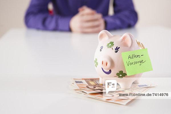 Sparschwein für die Altersvorsorge Sparschwein für die Altersvorsorge