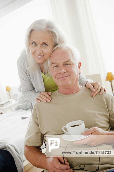 Portrait eines Seniorenpaars