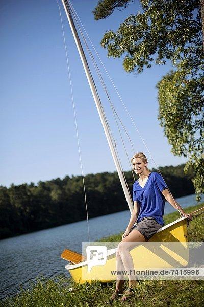 Segeln  See  Ende  Mädchen  Alabama