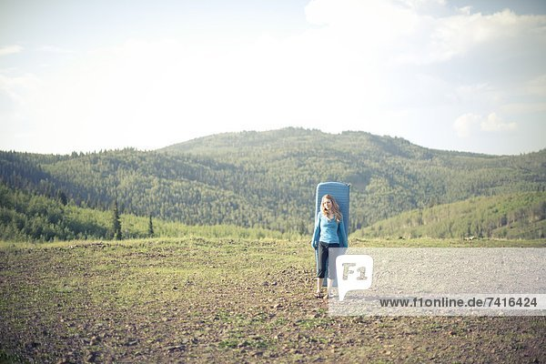 camping  Mittelpunkt  Mädchen  Utah