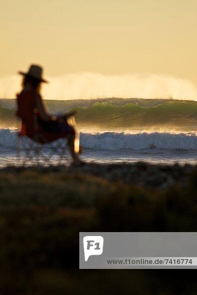 Wasserrand  Fokus  sitzend  Stuhl  Mexiko  Halbinsel