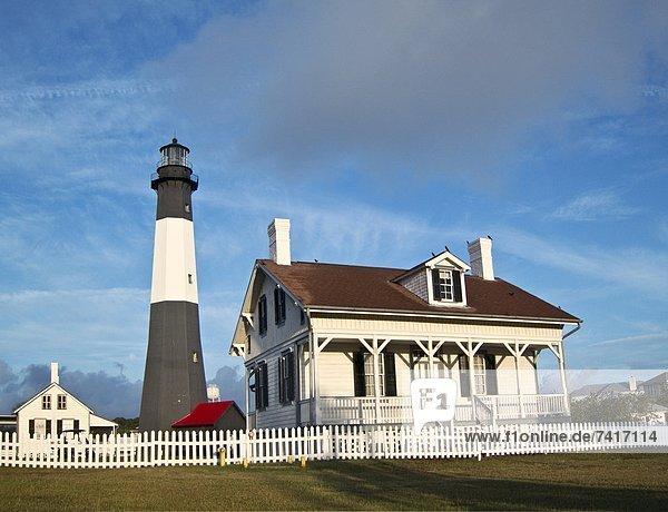 Hafen  Schutz  Eingang  Beleuchtung  Licht  Insel  Tybee Island  Georgia  Savannah