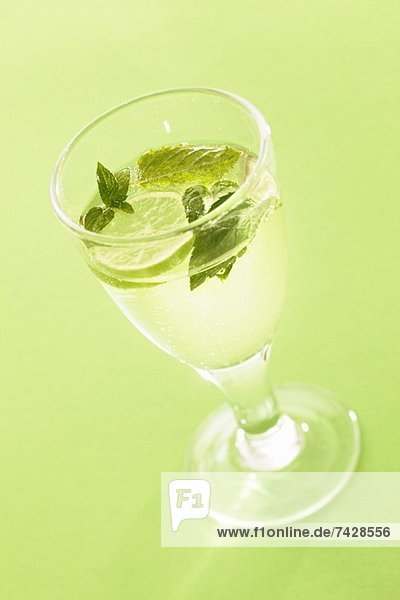 Hugo (a cocktail with elderflower syrup  champagne and limes)