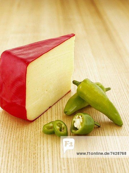 Monterey Jack Käse und Jalapenos